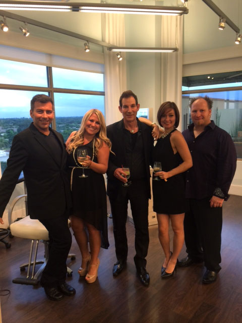 (left to right) : Louis Karakasiann (Stylist), Chelsea Pitts (General Manager), Kerry Resnick (co-owner & Master Stylist), Gigi Darocha (Colorist & Stylist), Adam Gray (Stylist)