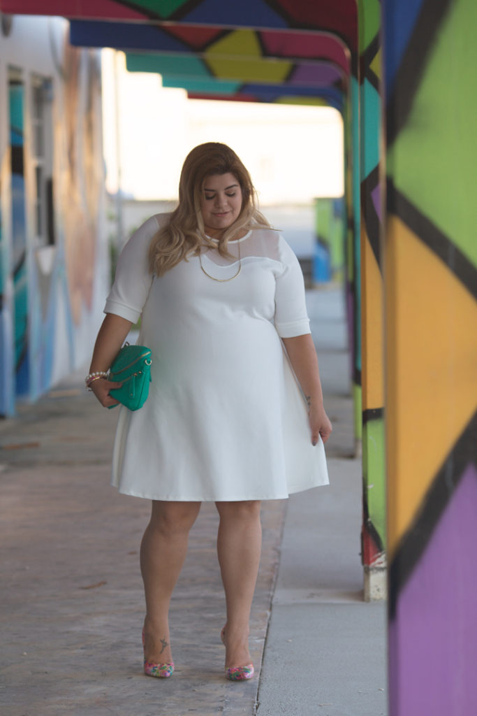 plus-size-white-dress