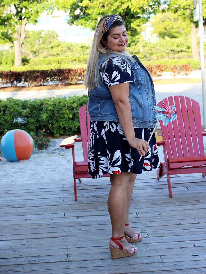 cute plus size 4th of july outfit idea