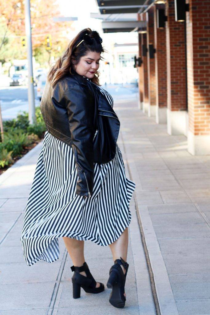 girl with curves collection miranda stripe shirt dress