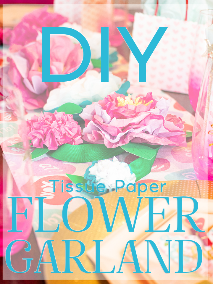 Diy Easy Tissue Paper Flower Garland