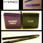 Review: MAC Eyeliner (Feline + Designer Purple)