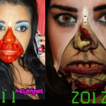 Halloween2012: Unzipped Zombie Exposed! (Unzipped makeup tutorial)