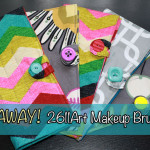 2611Art Custom Makeup Brush Roll Giveaway | ENDED!