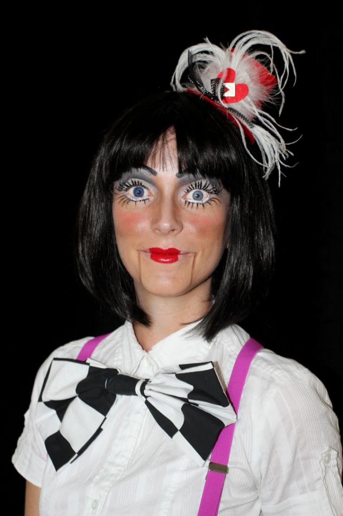 Creepy Ventriloquist Makeup Look