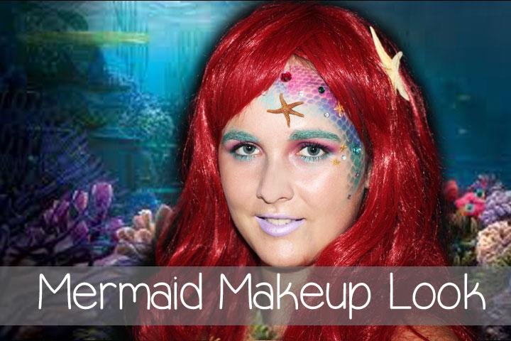 Halloween Series: Mermaid Inspired Makeup Look