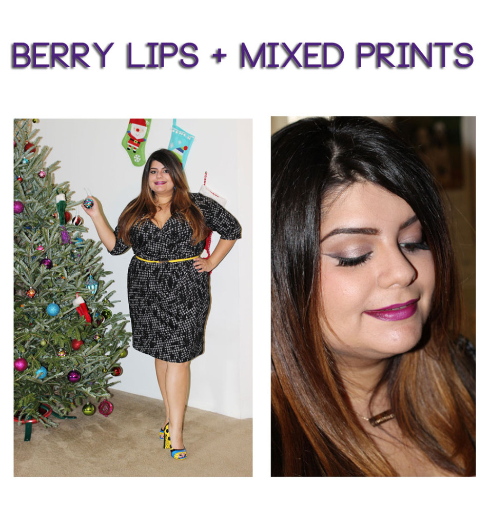 Berry Lips and Mixed Prints