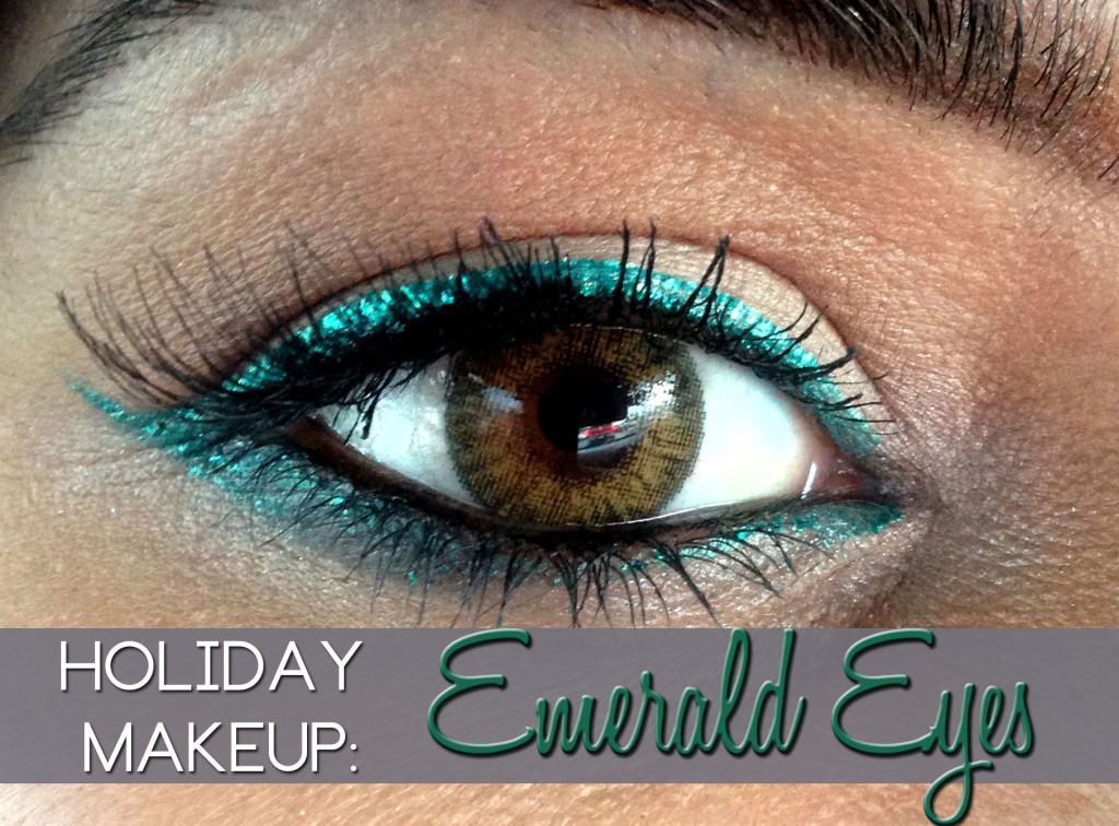 Emerald eyes | Emerald Eyeliner | Holiday Makeup