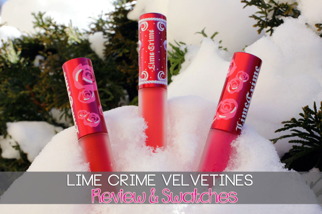 Lime Crime Velvetines Swatches and Review Red Velvet | Suedeberry | Pink Velvet