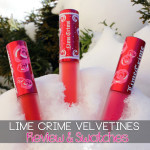 Lime Crime Velvetines Review & Swatches | Pink Velvet | Red Velvet | Suedeberry