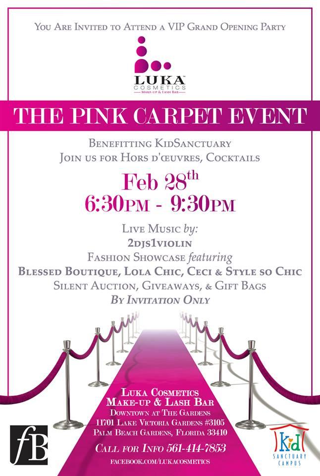 luka cosmetics pink carpet event