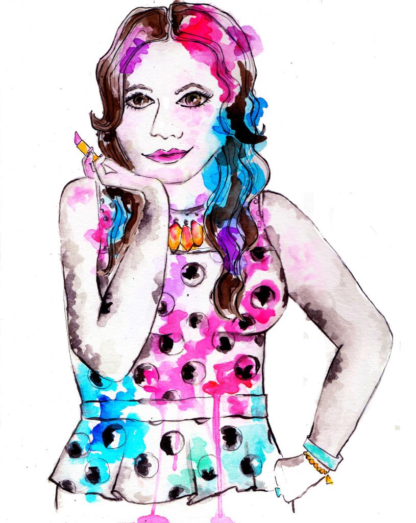 Pretty In Pigment Illustration