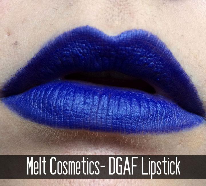 Melt Cosmetics Review | DGAF Lipstick Swatch