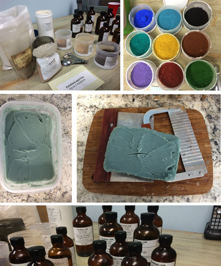 Soap making class at Shoppe561
