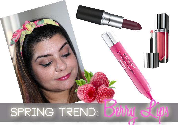 Berry Lips Spring 2014 Beauty Trend