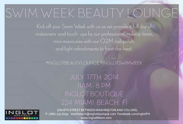 Mercedez-Benz Swim Week 2014 Event at Inglot