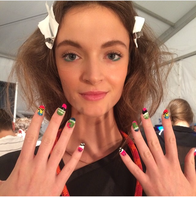 Vanity Projects Nail art from Mara Hoffman show