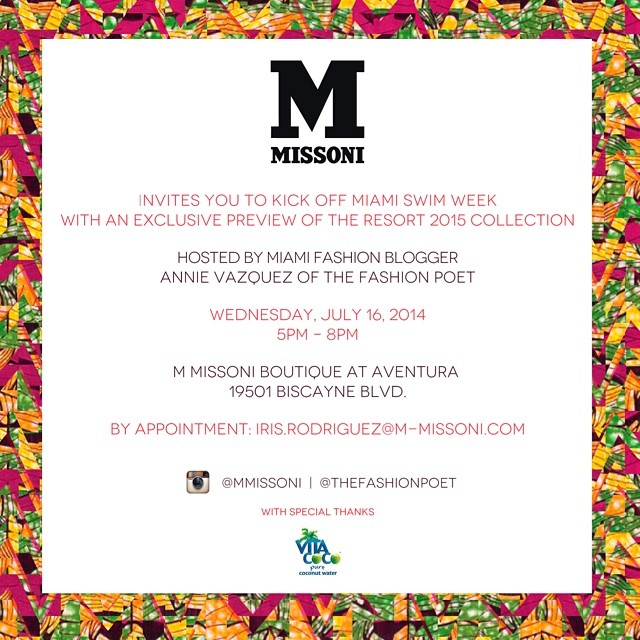 Mercedez-Benz Swim Week 2014 Event at Missoni