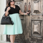 Opening the Door to Happiness in a Midi Skirt