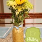 DIY Glittery Mason Jar