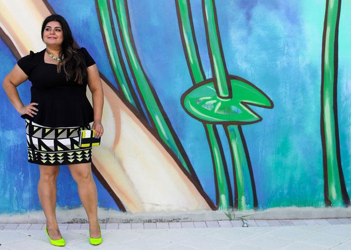 Rachel-roy-geomteric-print-mini-skirt