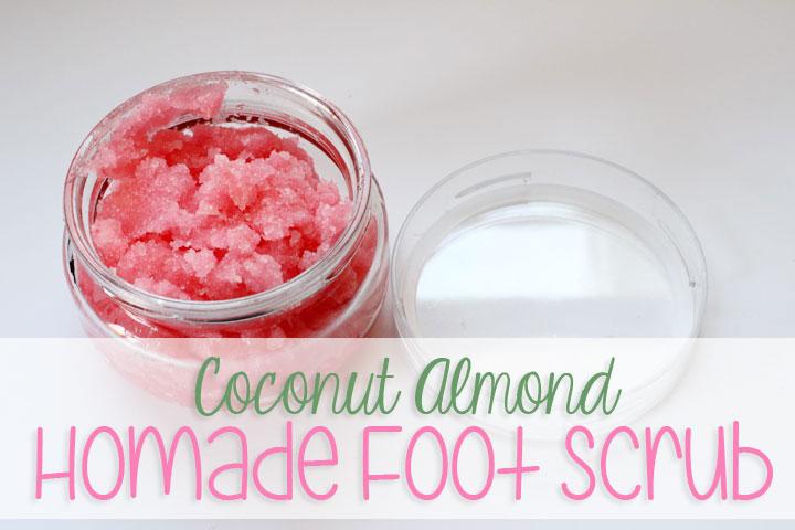 Coconut Almond Homemade Foot Scrub