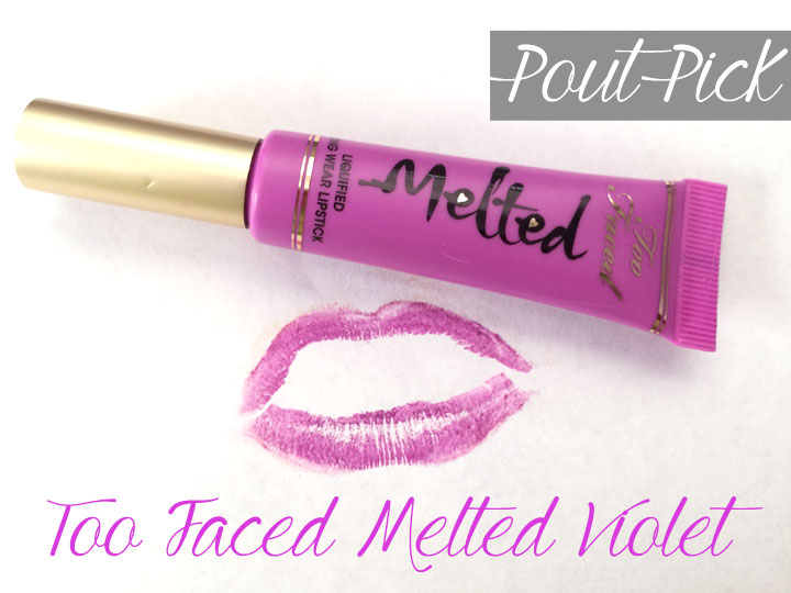 Too Faced Melted Violet Lipstick Review