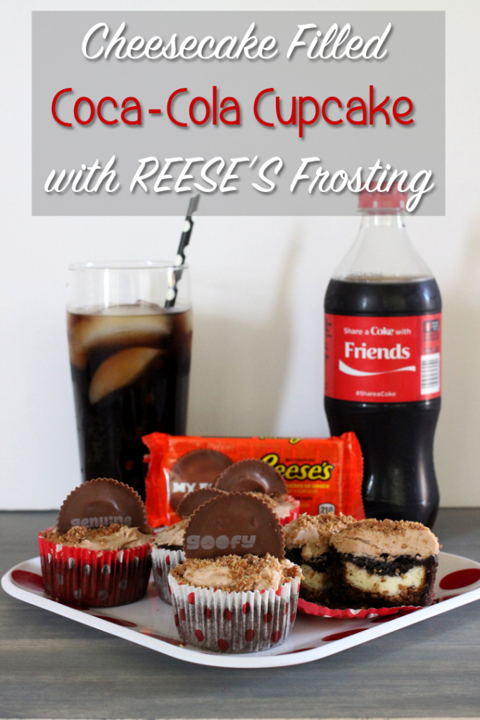Cheesecake Filled Coca-Cola Cupcake with REESE'S Cups Frosting
