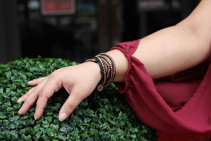 Victoria Emerson Rose Gold Wrap Bracelet