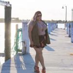 Military Vest + Floral Shorts