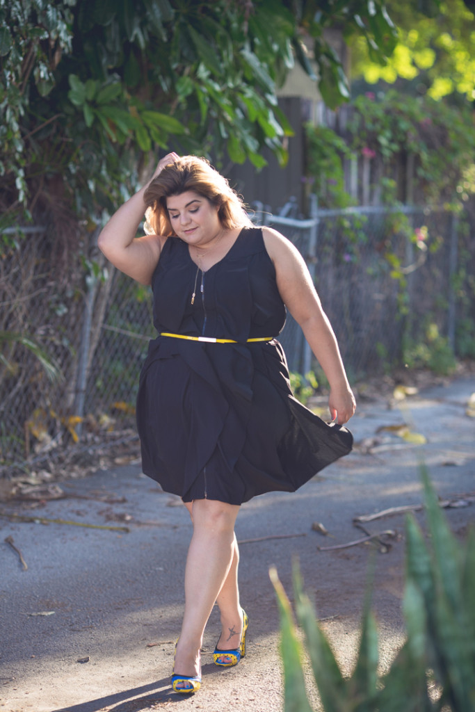 plus size little black dress