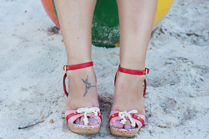 nautical style wedges