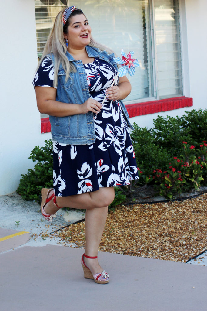 cute plus size 4th of july outfit