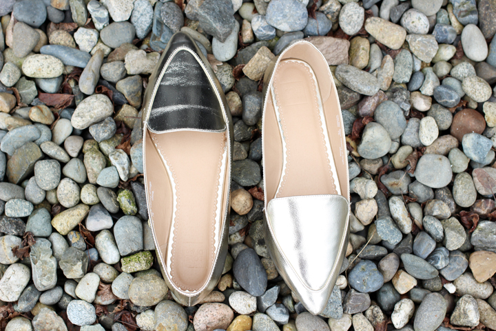 simply be gold loafers