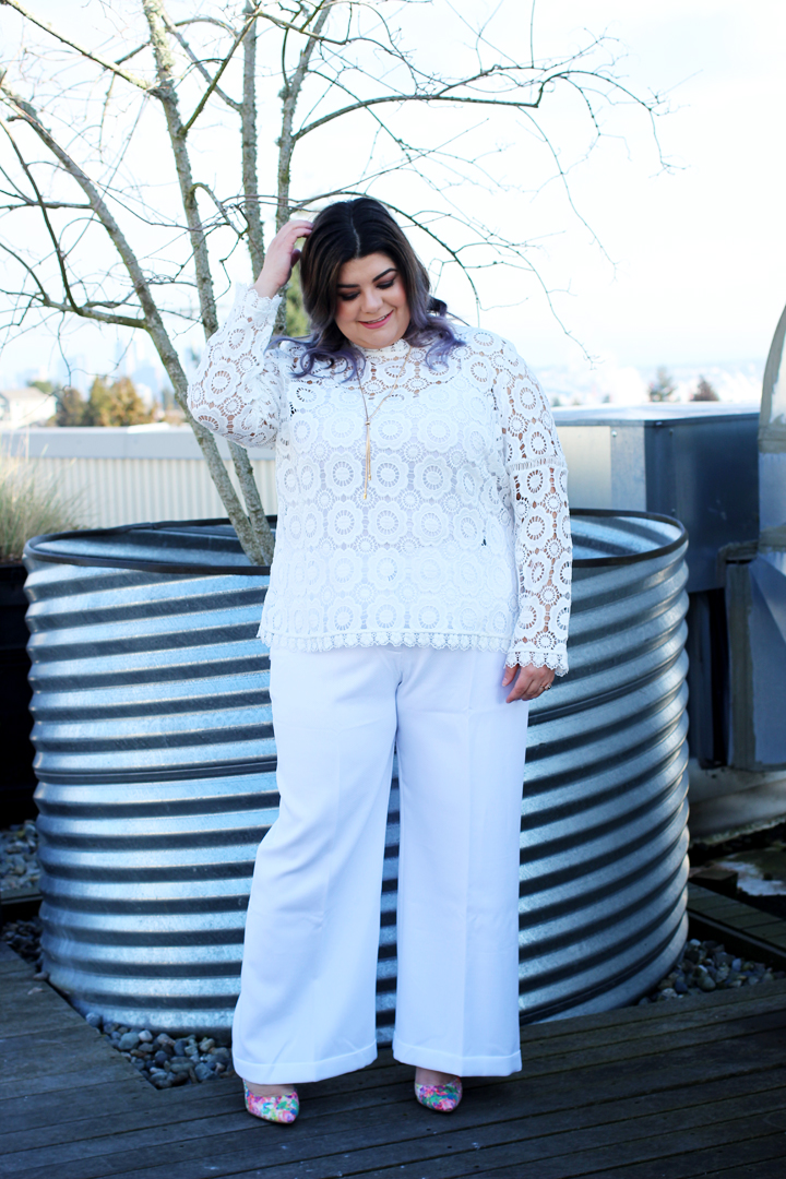 plus size wedding guest outfit idea