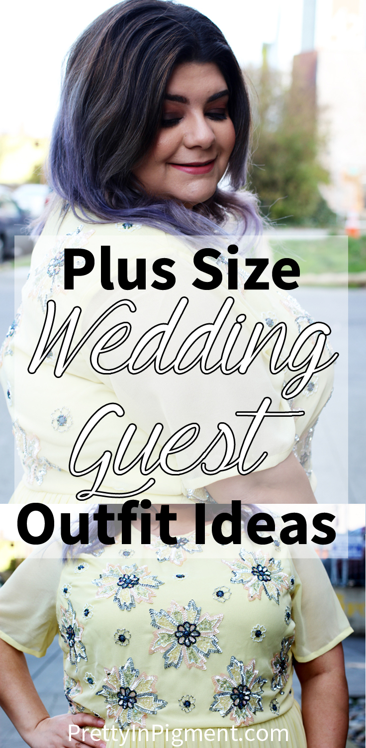 plus size wedding outfit idea