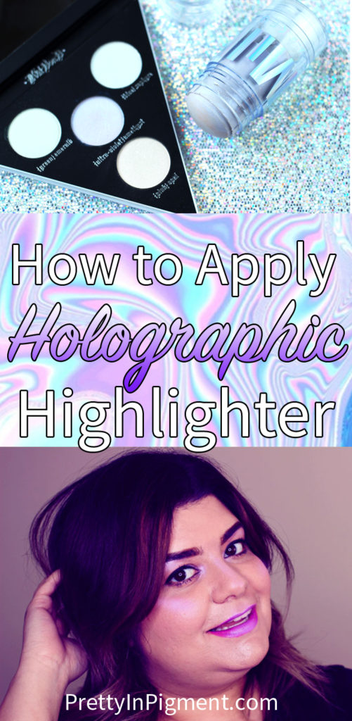 how to apply holographic highlighter