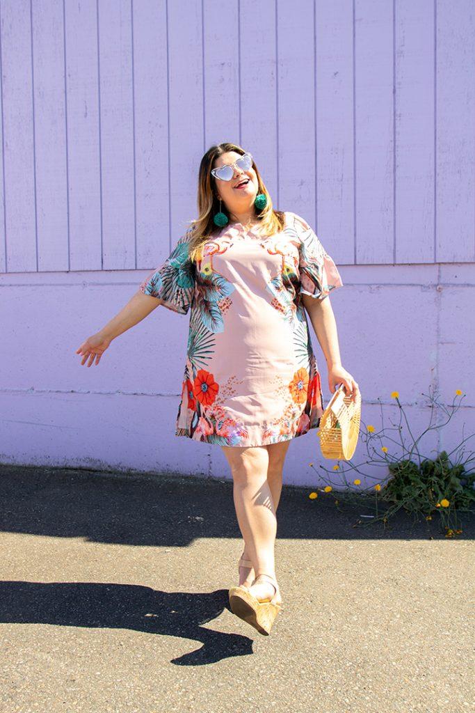 flamingo dress plus size