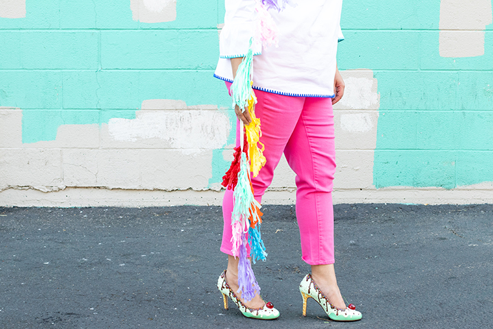 colorful denim jeans from talbots