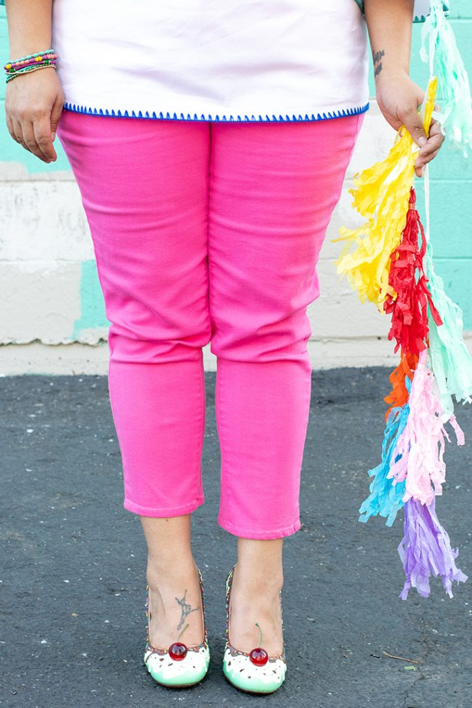 colorful denim- pink jeans from talbots