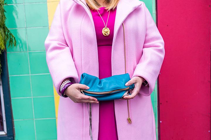 pink j crew cocoon coat