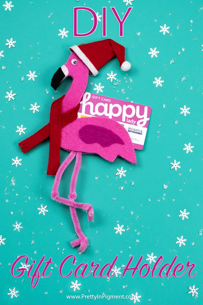 diy gift card holder christmas flamingo